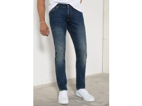 Džíny H.I.S 101555 CLIFF STRETCH Pure Dark Blue Wash