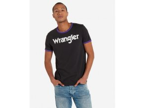Pánské tričko WRANGLER W7B63FKVD REGULAR FIT Washed Black