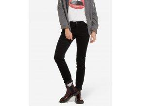 Dámské manžestrové kalhoty WRANGLER W28LEK100 SLIM STRETCH Black