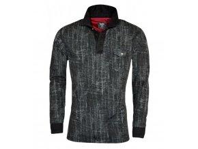 pánské triko hajo černé s límečkem
