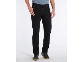 tmavě modré plátěné kalhoty wragnler W12OZ2114