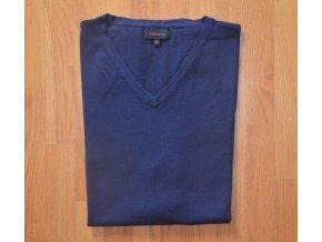 Pánská pletená vesta AMJ modrá 003