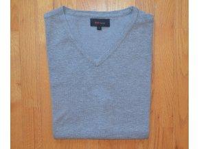 Pánská pletená vesta AMJ světle šedá 109