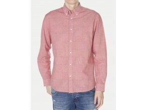 Pánská košile WRANGLER W57656M1C REGULAR FIT Pompeian Red