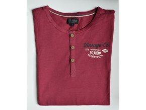 Pánské tričko OKLAHOMA DENIM 18669 001 Red