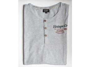 Pánské tričko OKLAHOMA DENIM 18669 001 Grey