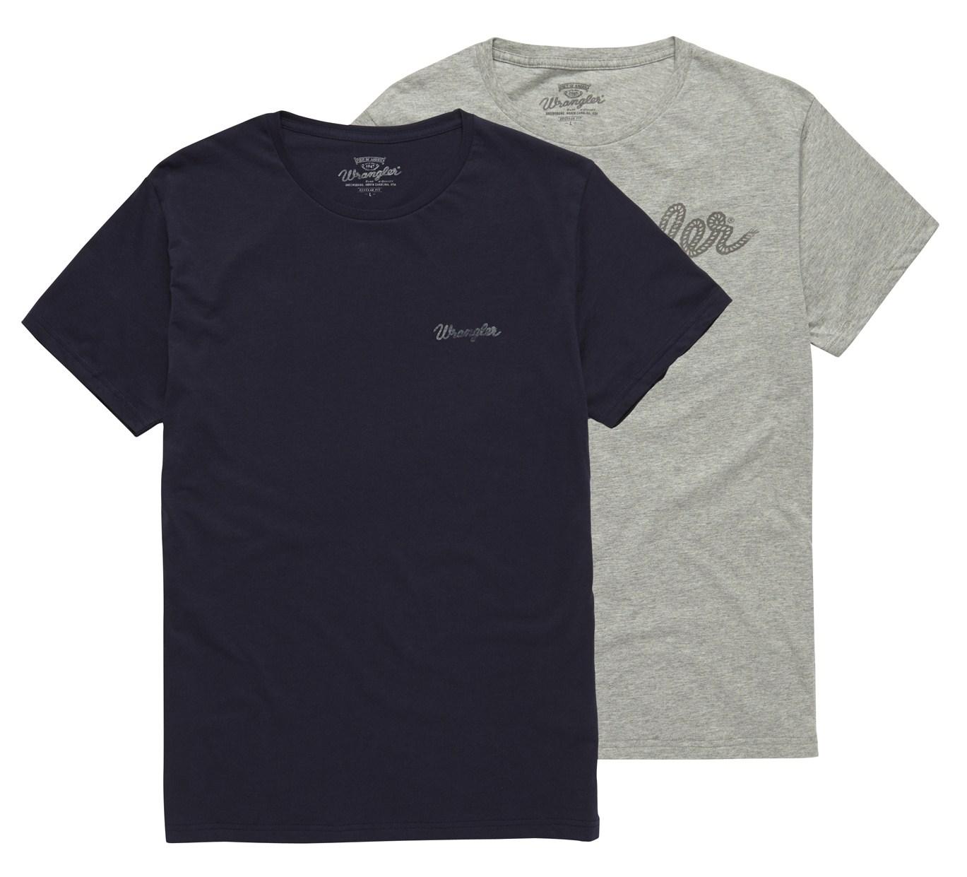 Pánská trička WRANGLER W7883FQ35 2 PACK LOGO T REGULAR FIT Velikost: S