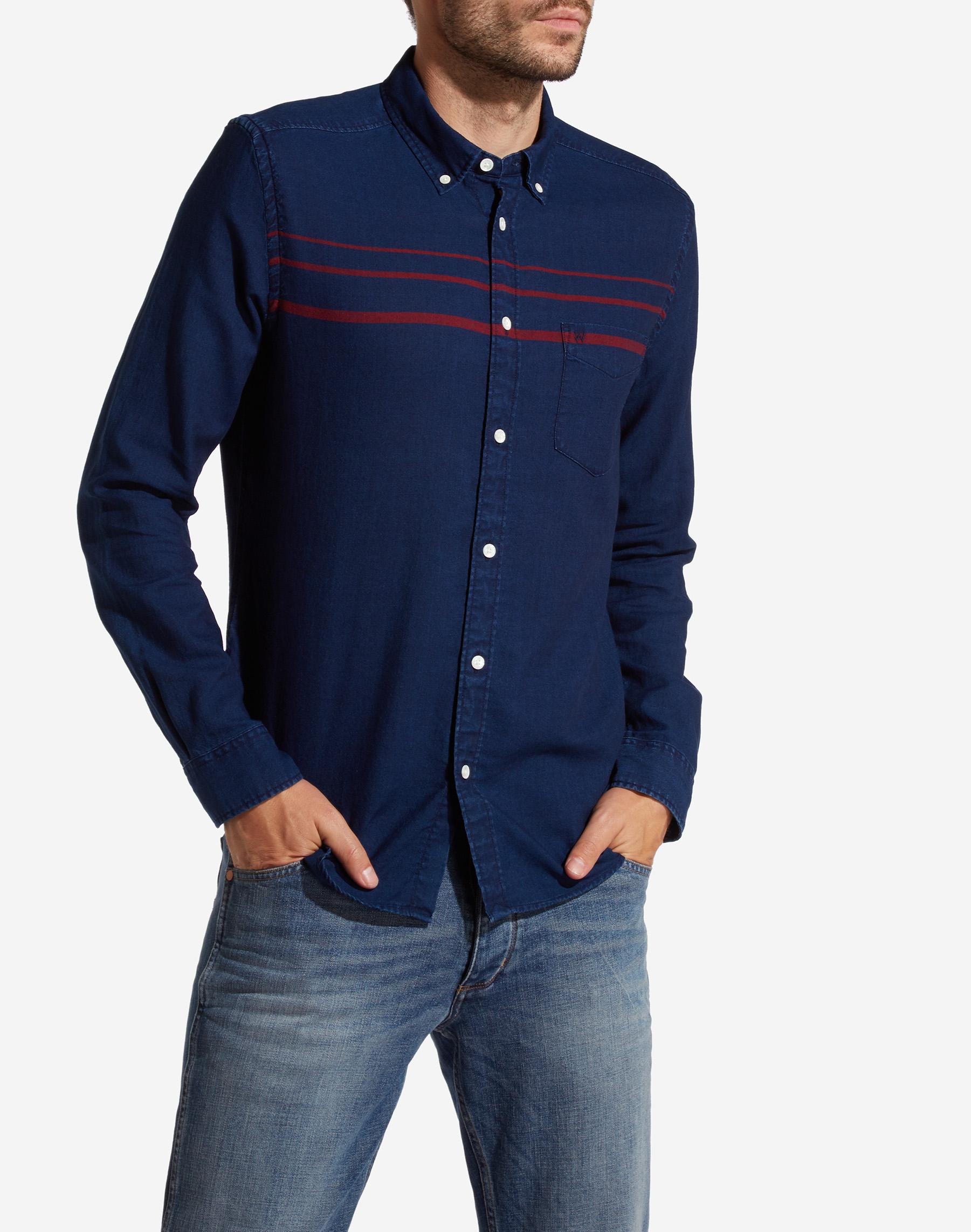 2a1cc403b1a Pánská košile WRANGLER W5883M51E SLIM FIT Dark Indigo Velikost  XL