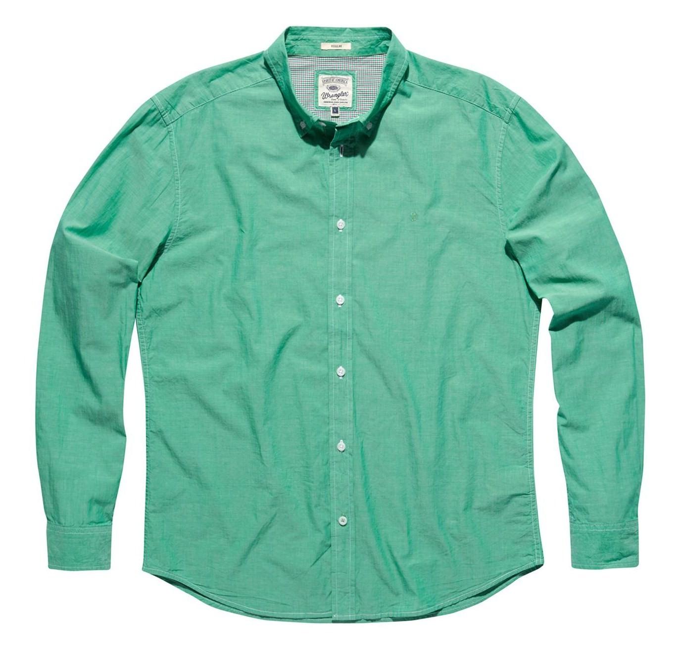 Pánská košile WRANGLER W57651N79 REGULAR FIT COOL COMFORT Jelly Bean Velikost: XXL