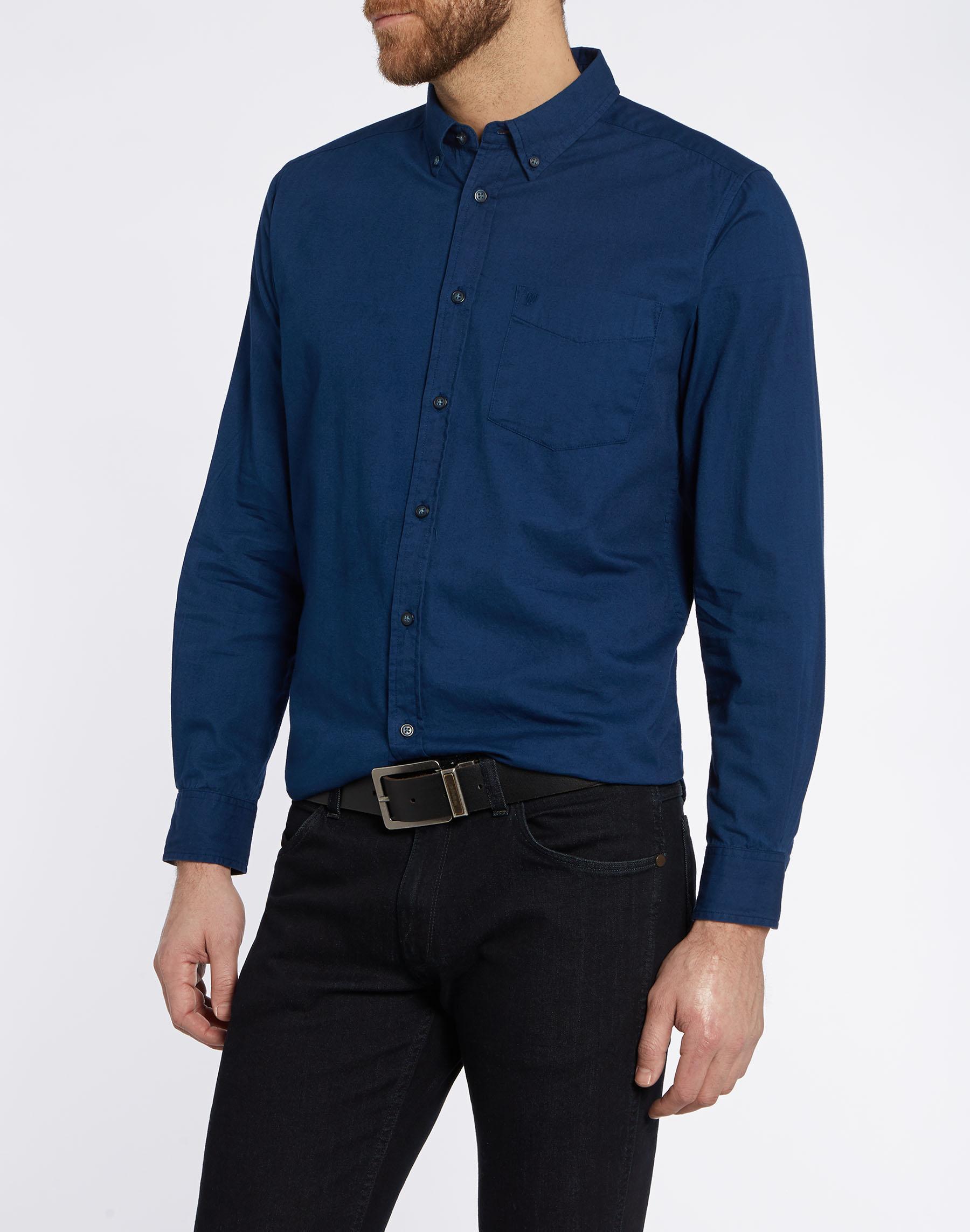 cb178b50b9d Pánská košile WRANGLER W58835Y09 SLIM FIT Estate Blue Velikost  XL