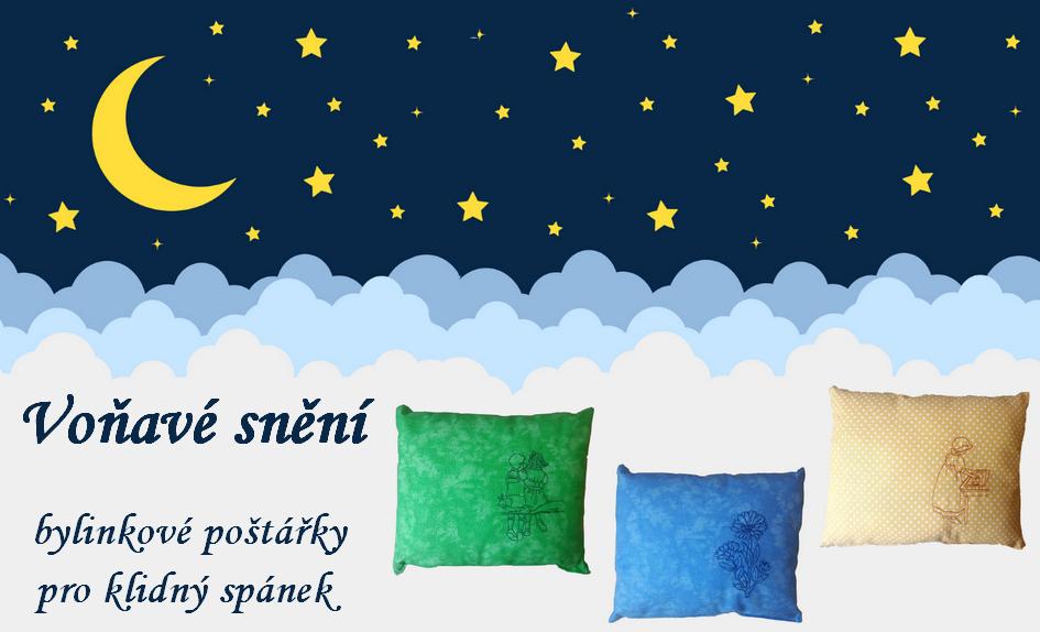 Voňavé snění - bylinkové polštářky - pro klidný spánek - Tip  dárek pro Vaše blízké