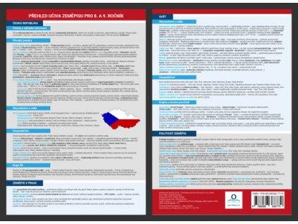 Přehledová tabulka učiva Přehled učiva zeměpisu pro 8. - 9. ročník
