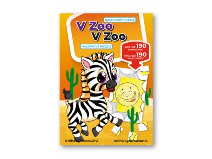 V zoo Nálepkové puzzle