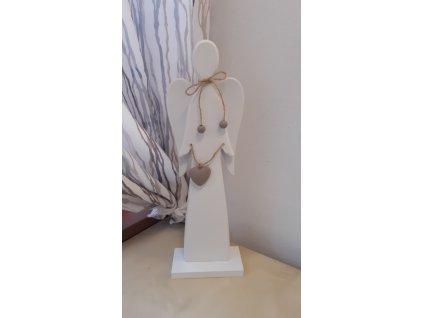 Anděl dřevěný 11,6 × 35 × 6 cm
