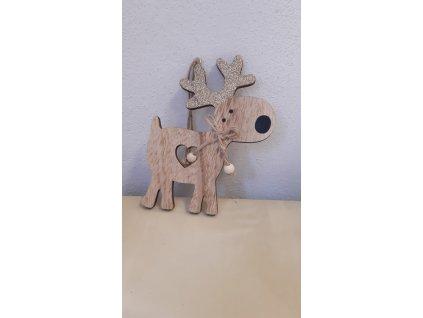 Dřevěný závěsný sobík
