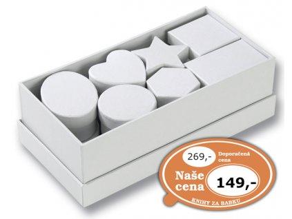 Dárkové krabičky různých tvarů 15 ks/bílé