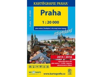 Praha plán města 1:20 000