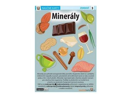 Naučné karty Minerály
