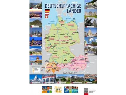 Deutschprachige Länder Mapa