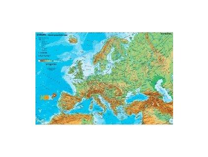 Evropa - obecně geografická mapa