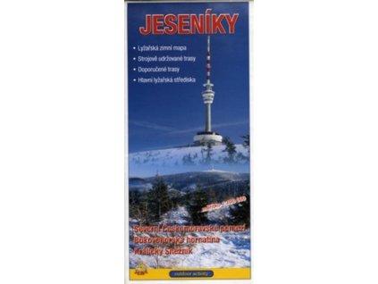 Jeseníky 1:100 000 Zimní lyžařská mapa