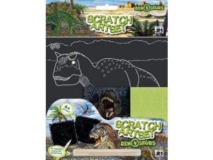 Vyškrabávací set Dinosauři