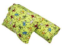 Dětské bavlněné povlečení do školky - Kocourek zelený - 2