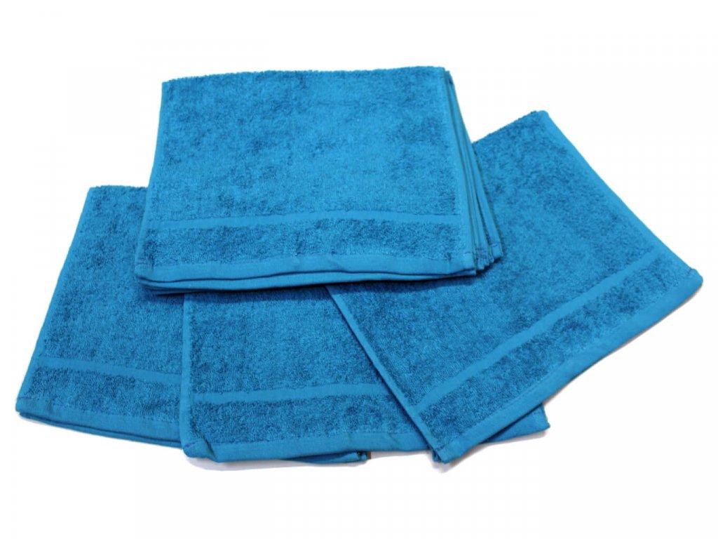 Dětský ručník pro mateřské školy 30x50 cm Tyrkysový 1