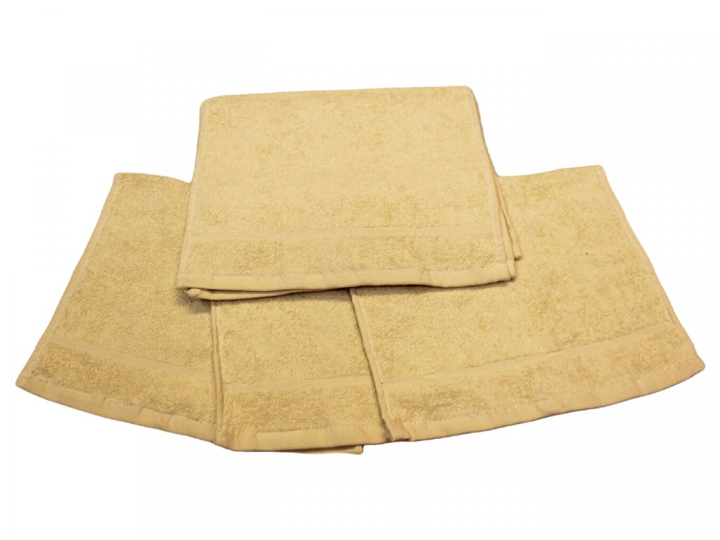 Dětský ručník pro mateřské školy 30x50 cm krémový 1