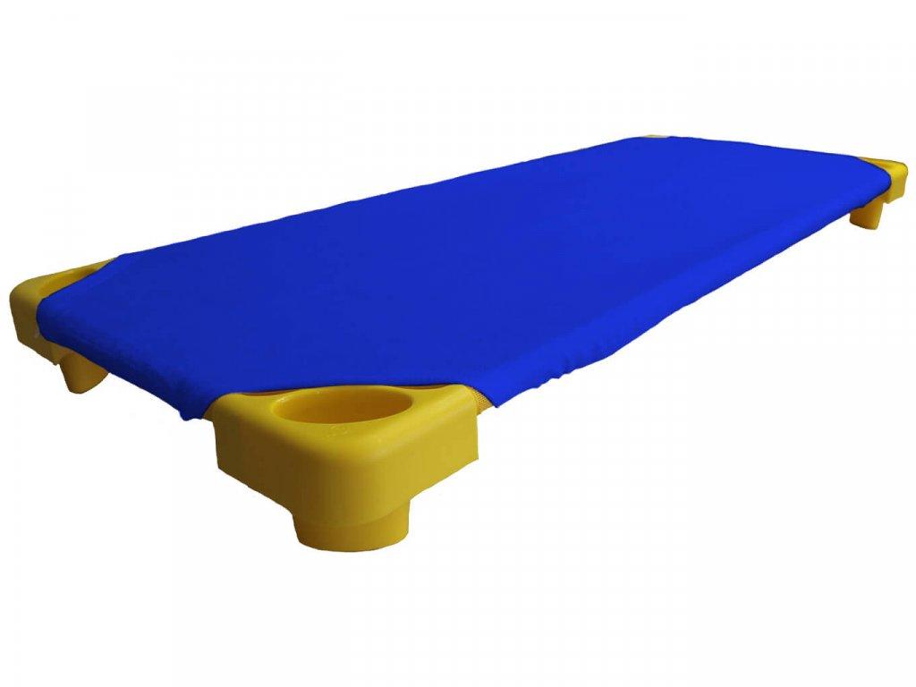Královsky modré froté prostěradlo na lehátka do školky