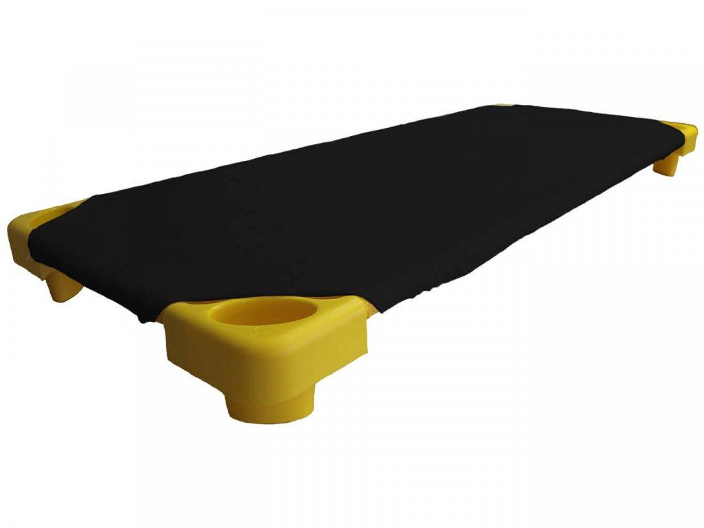 Černé froté prostěradlo na lehátka do školky