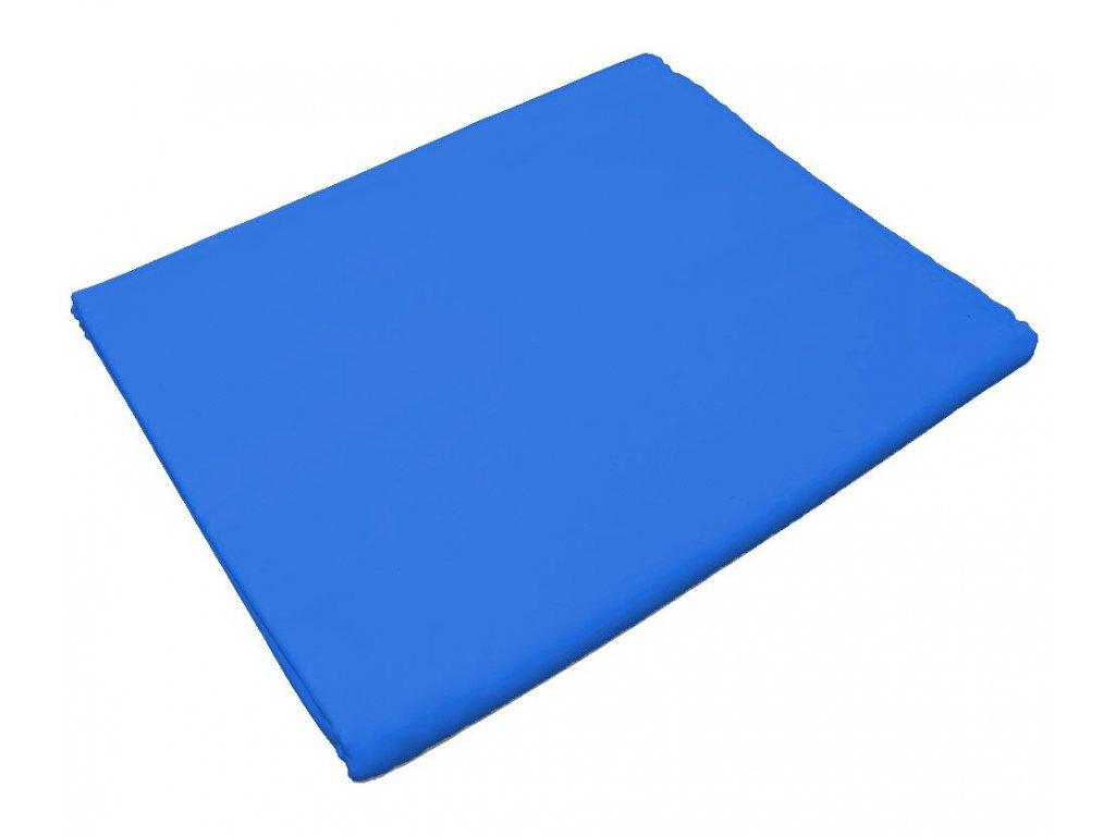 Bavlněné prostěradlo do školky Modrá s gumou