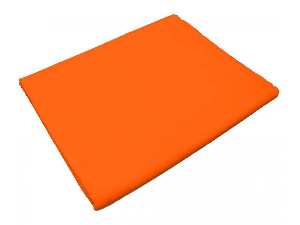 Bavlněné prostěradlo do školky Oranžová s gumou