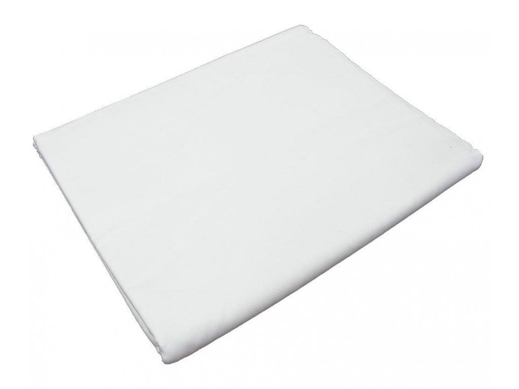 Bavlněná plachta do školky - Bílá bez gumy