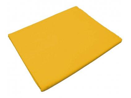 Bavlněná plachta do školky - Žlutá bez gumy