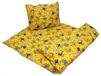 Bavlnené obliečky Kocúr žltý