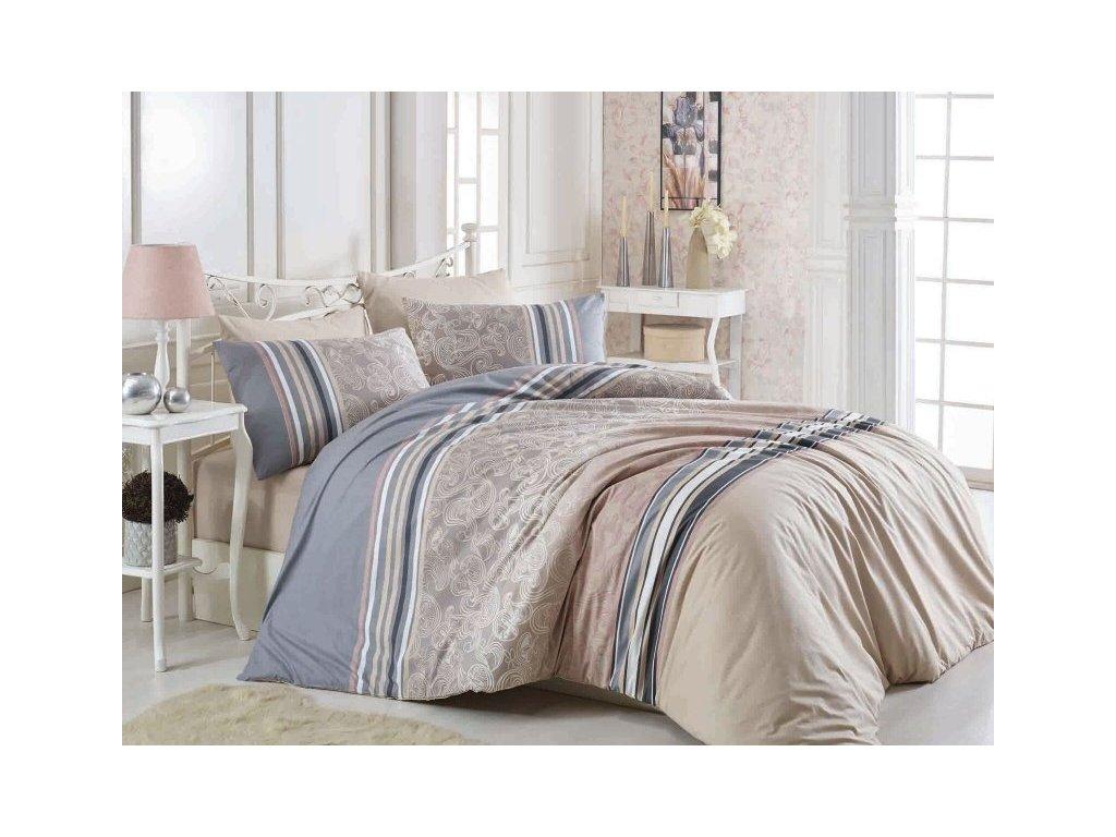 4112 postelna bielizen bavlna deluxe rasto hneda 140x200