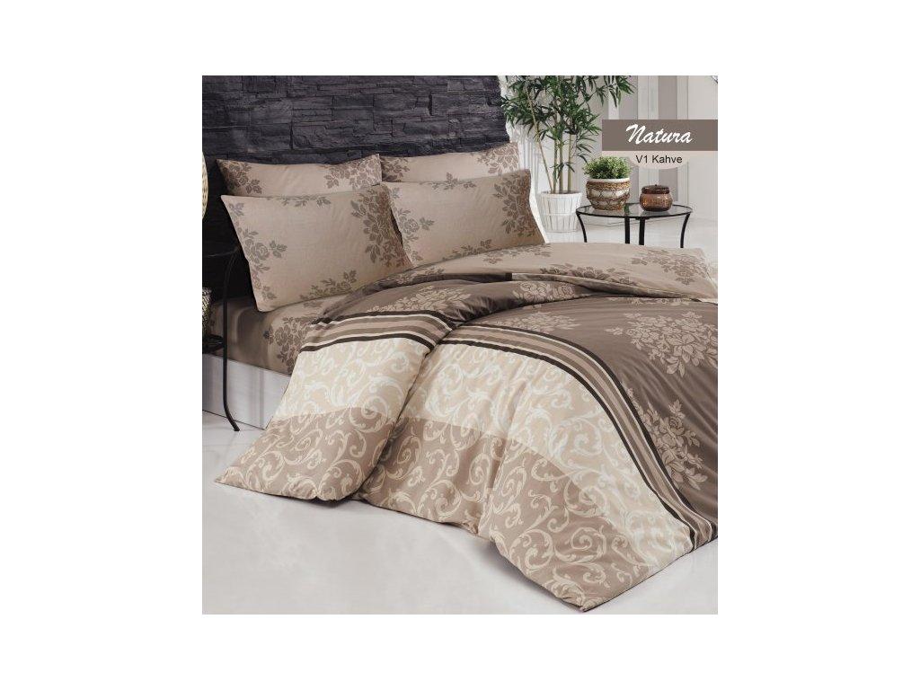 3890 bavlnene predlzene postelne obliecky serpent hneda 140x220