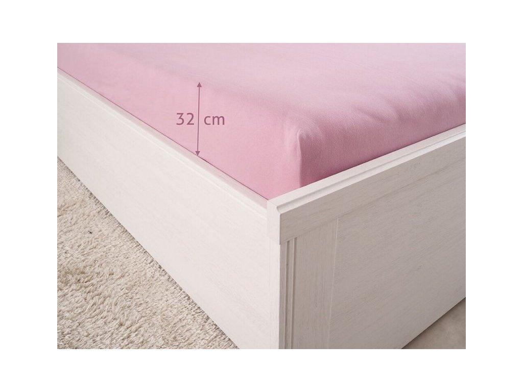 3746 natahovacie prestieradlo z bavlny s elastanom luxus lila 180x200 180g m2