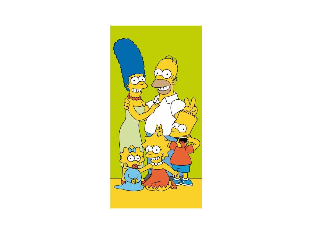 4934 osuska licencne simpsons family green 70x140
