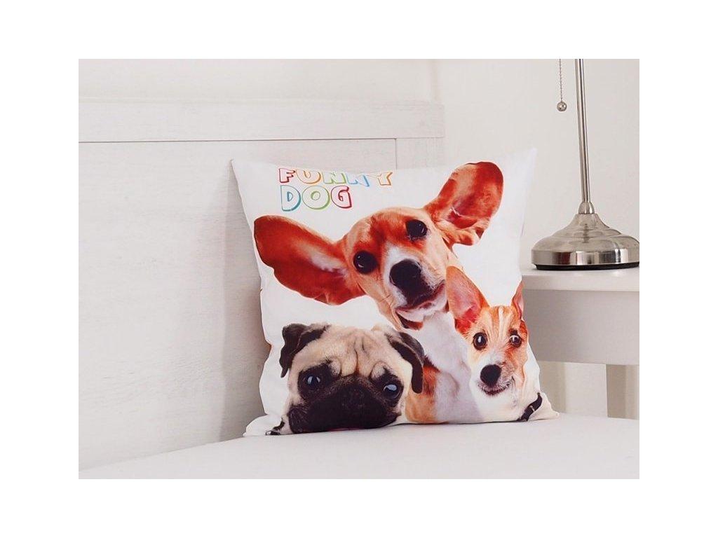 3062 1 dekoracny vankusik funny dogs 40x40