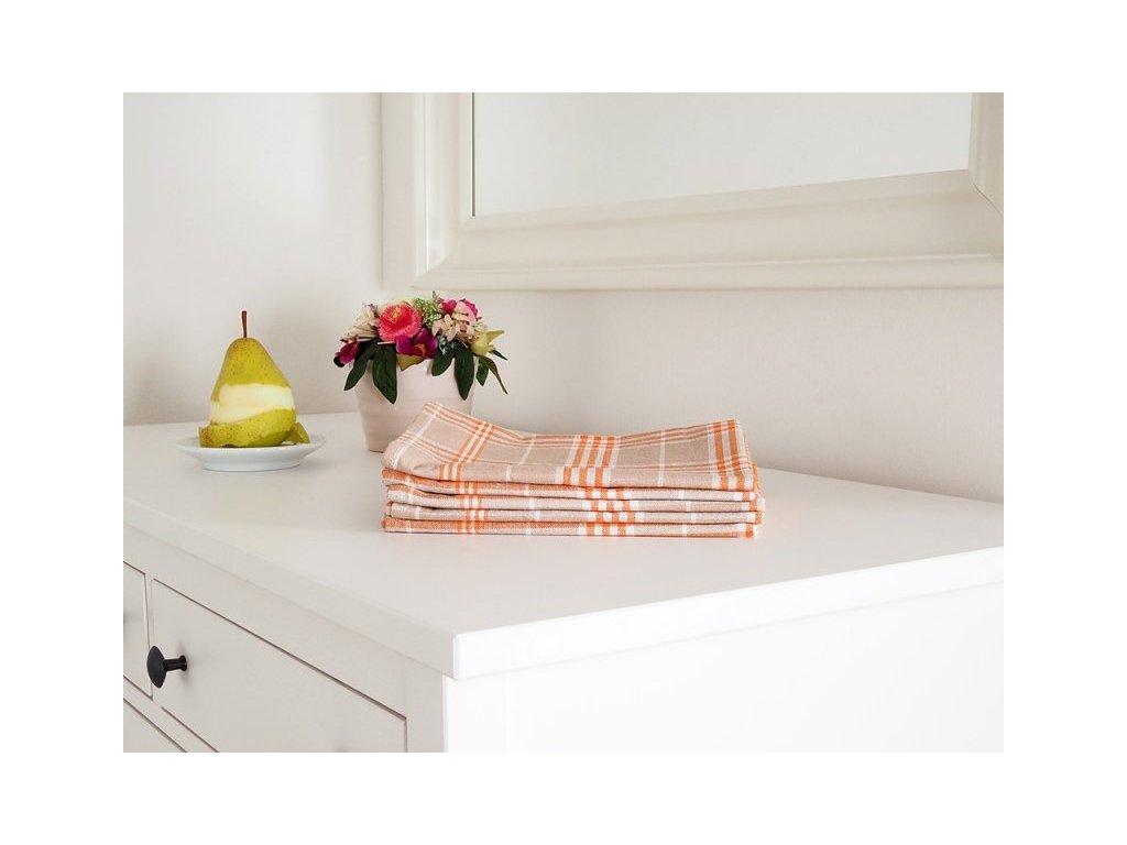 5390 kuchynska utierka tina oranzova 45x65 cm