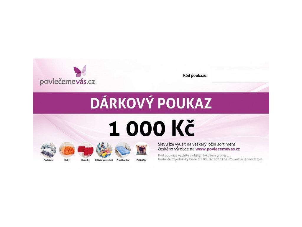 4688 tisteny darkovy poukaz v hodnote 1000 kc