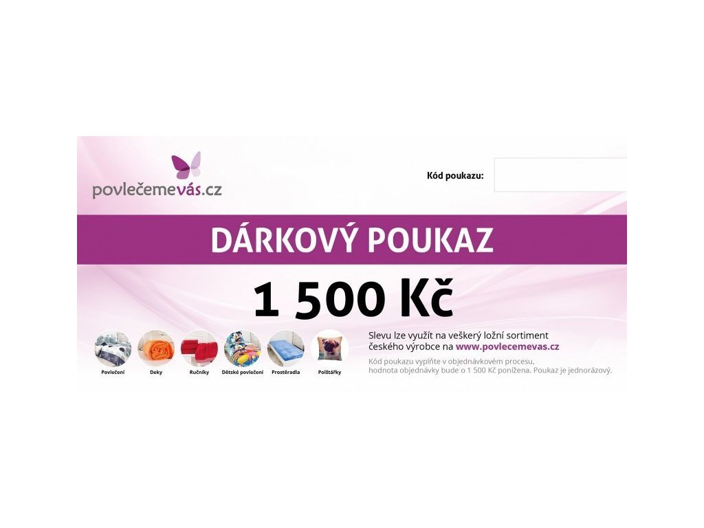 4691 tisteny darkovy poukaz v hodnote 1500 kc