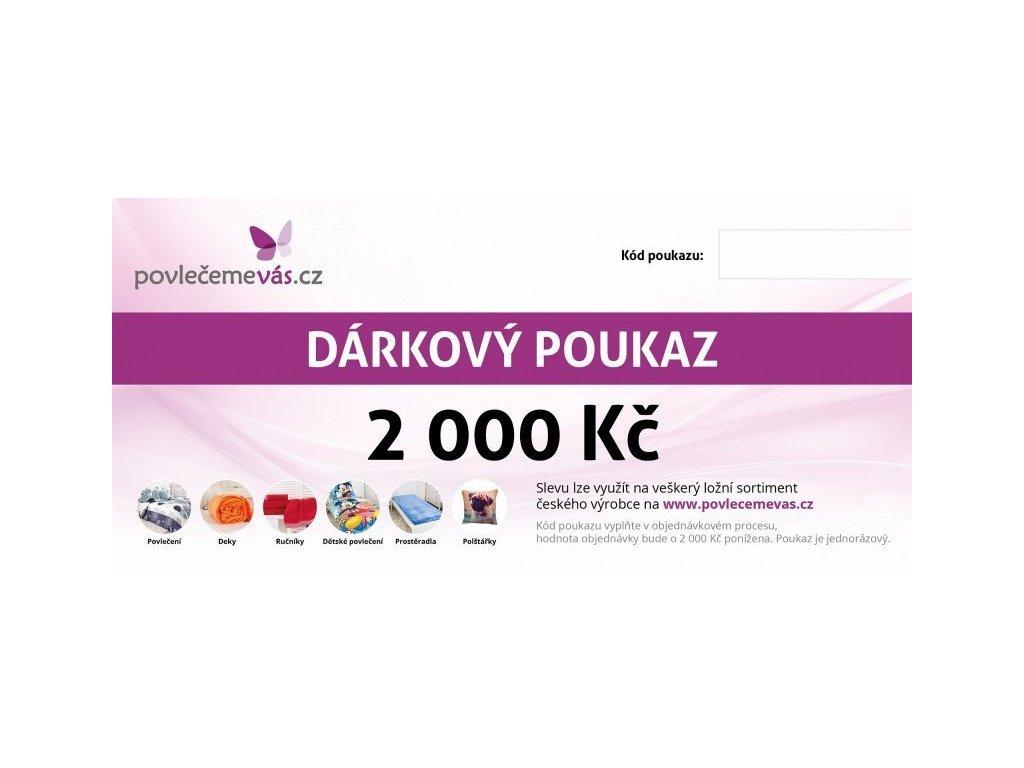 4694 tisteny darkovy poukaz v hodnote 2000 kc
