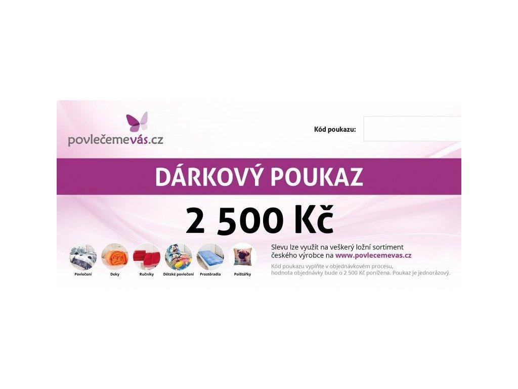 4697 darkovy tisteny poukaz na veskery sortiment v hodnote 2500 kc