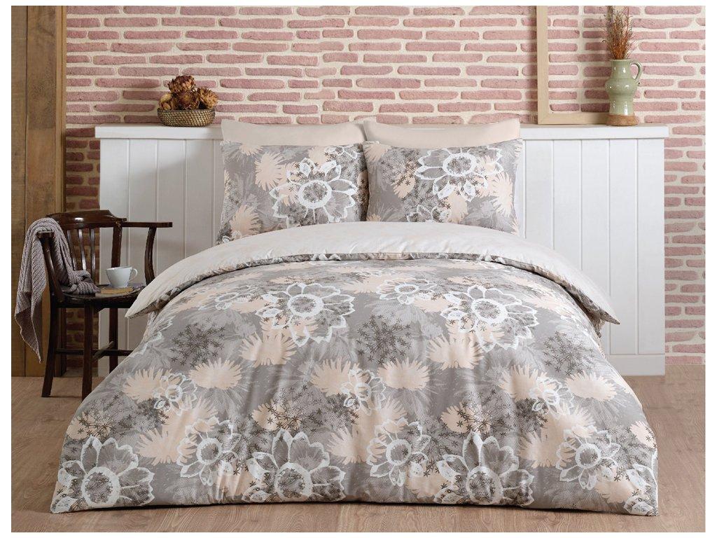 Bavlnené posteľné obliečky Mirage Béžové 140x200