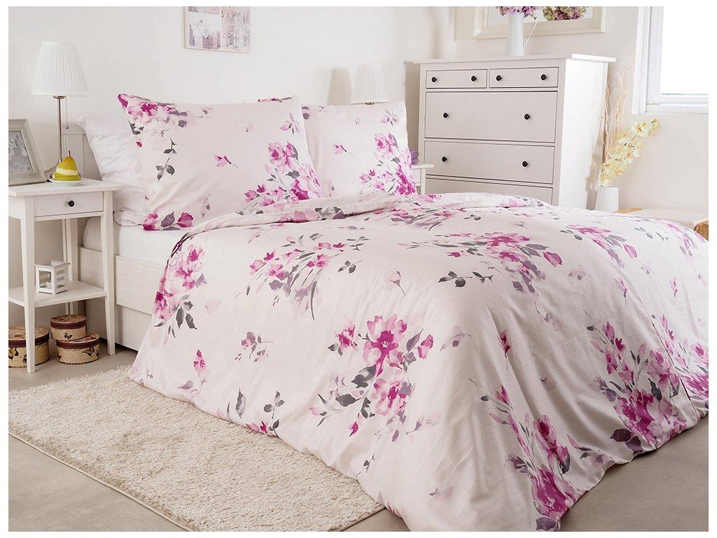 Luxusné saténové posteľné obliečky z bavlny Gorica 140x200 + 70x90