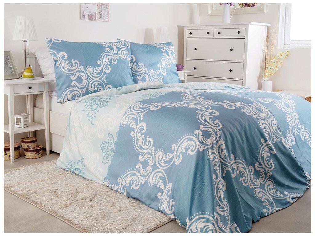 Luxusné saténové posteľné obliečky z bavlny Milano 140x200 + 70x90