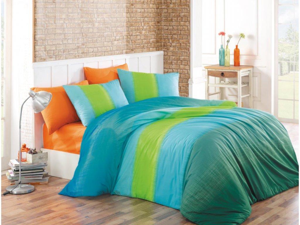 Obliečky Bavlna 140x200 + 70x90 - Colorful Modré